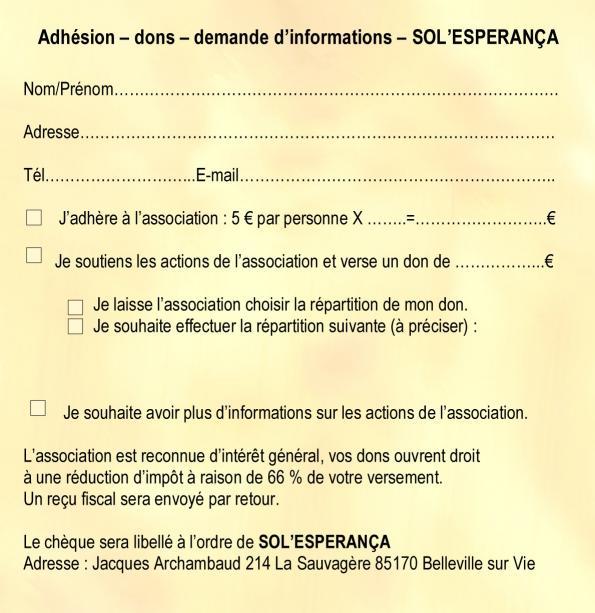 Adhesion sol esperanca