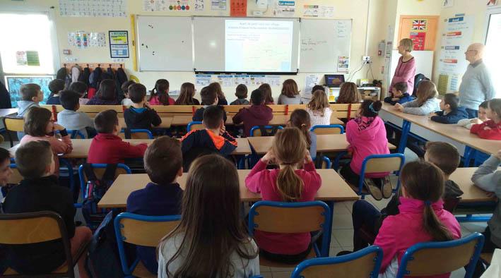 Les élèves sont attentifs