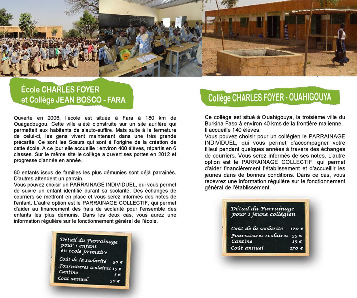 Ecole colle ge burkina