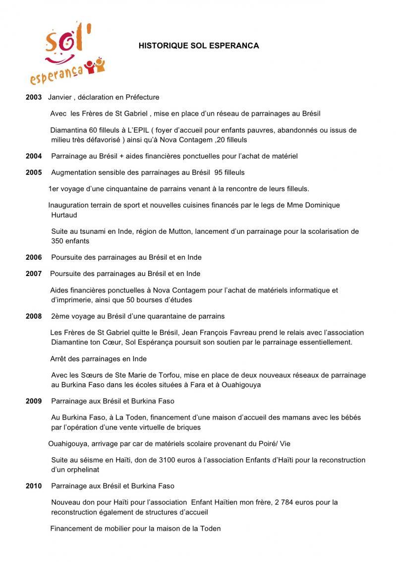 Historique sol esperanca page 1